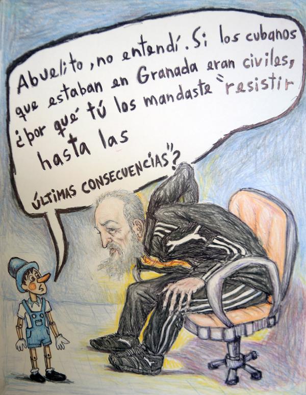 Pinocho interroga sobre el asunto Granadas en 1983